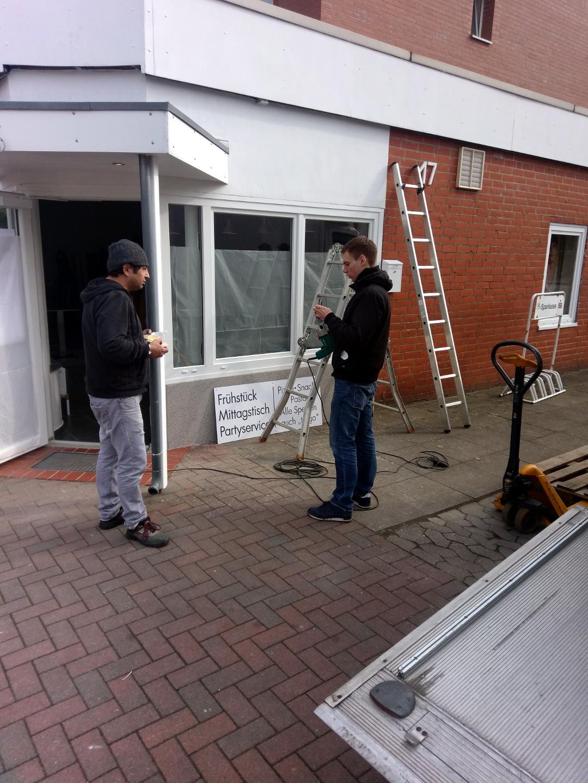 Außenwerbung Installation